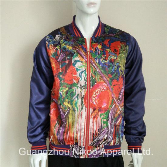 b09b96fd8 Custom Fashion Sublimated Satin Jackets for Women
