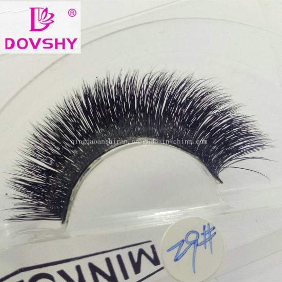 48868f68fa4 Beauty Natural Cosmetic Handmade 3D Strip Mink Eyelashes with Factory Price