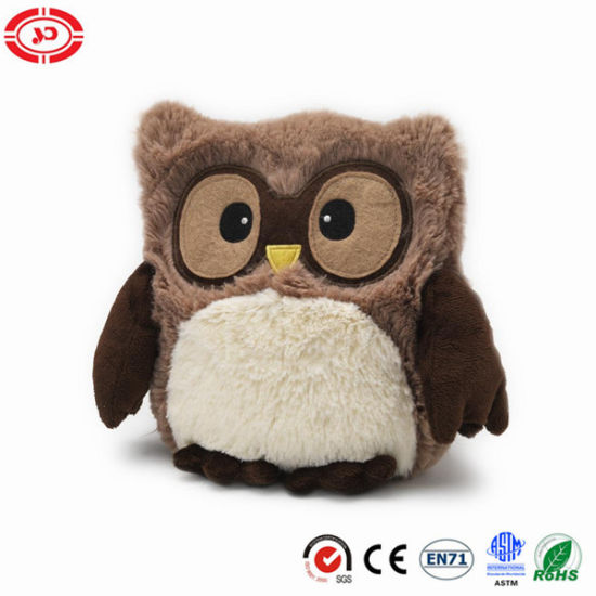 Plush Embroidered Eyes Owl Cute Soft Stuffed Toy