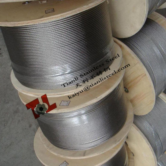 "316 7X19 1/8"" 3.2mm Stainless Steel Wire Rope pictures & photos"