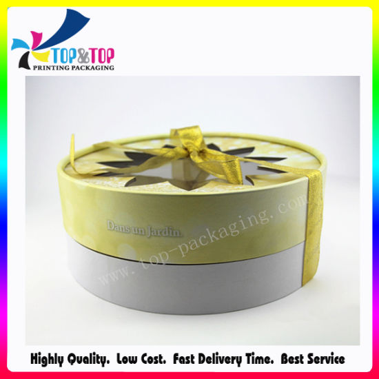 Wholesale Special Fancy Paper Cylinder Gift Round Box Making Flower Box