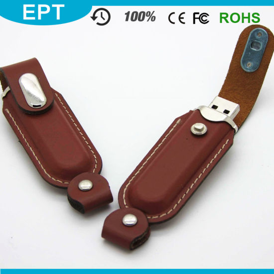 Embossing Logo of Leather USB Flash Drive (TL002)