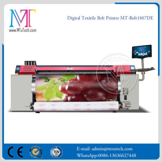 Fast Belt Textile Printer with 3PCS Dx7 Print Head for 1440dpi High Quality Printing pictures & photos