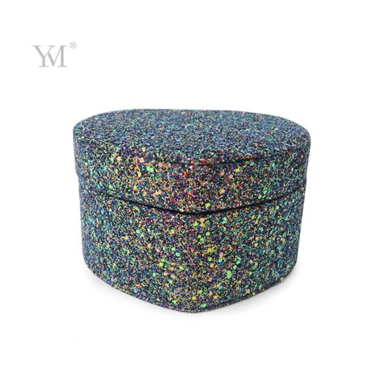 Fashion Design Bling Sequin Cosmetic Organizer Box with Mirror
