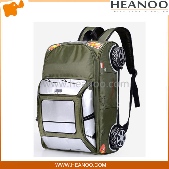 ff36d1c304 China 3D Transformers Car Student Wheel Trolley Bags Backpack for ...