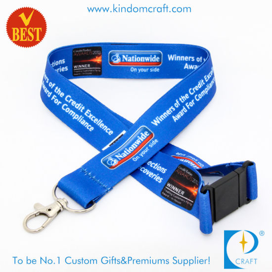 Print one colour both sides. 15mm Custom Printed branded Neck Lanyard