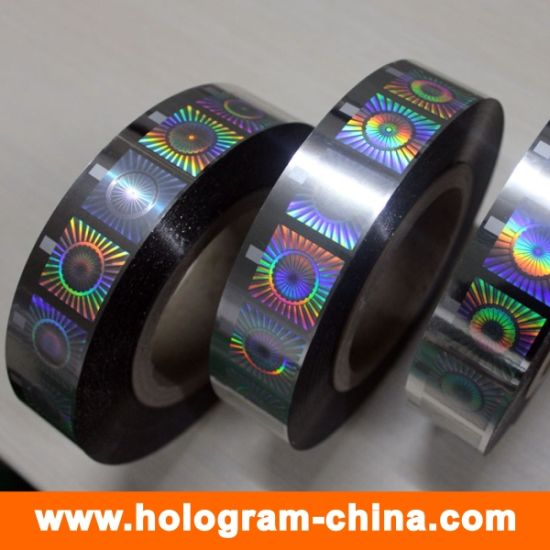 Custom Anti-Fake 2D 3D Hologram Hot Stamping Foil pictures & photos