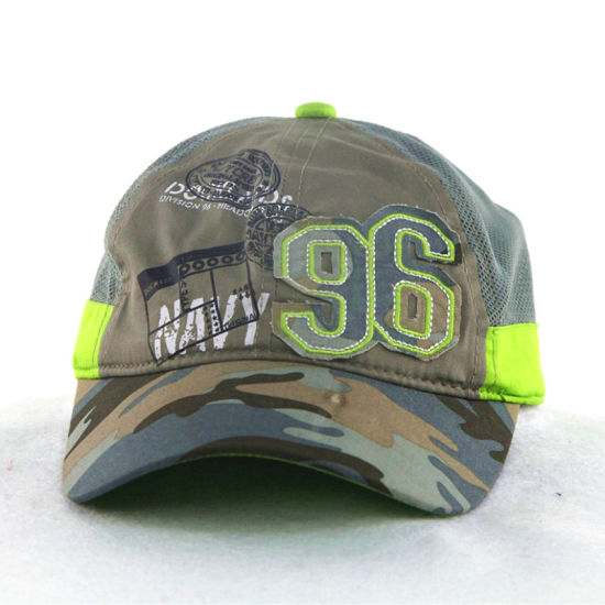 Green Camo Soft Nylon Mesh Kids Children Caps pictures & photos
