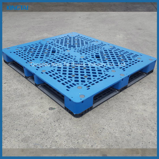 Eco-Friendly Virgin HDPE/PP 4-Way Plastic Pallets for Logistic Transport pictures & photos