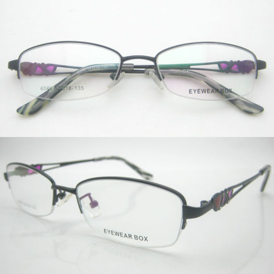 1f06ce4491 China Simple Design Metal Half Frame Optical Eyeglasses - China ...