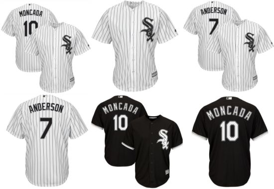 new arrival 40475 9d24d China Chicago White Sox Yoan Moncada and Tim Andersonl ...