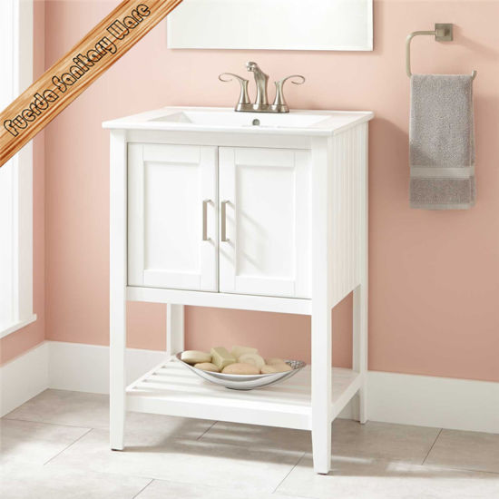 Hotel Use Solid Wood Modern Bathroom Cabinet pictures & photos