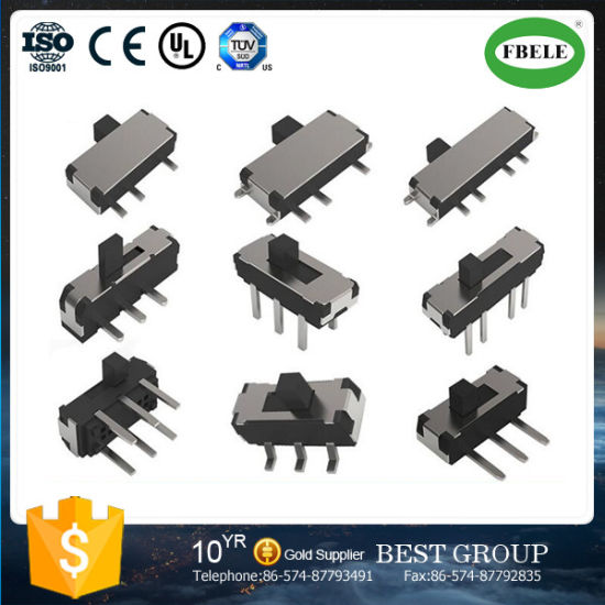 Mini Patch Vertical Type 6pin SMD Slide Switch pictures & photos