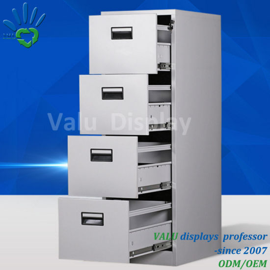 Steel Filing Cabinet Movable Metal Storage Office Use