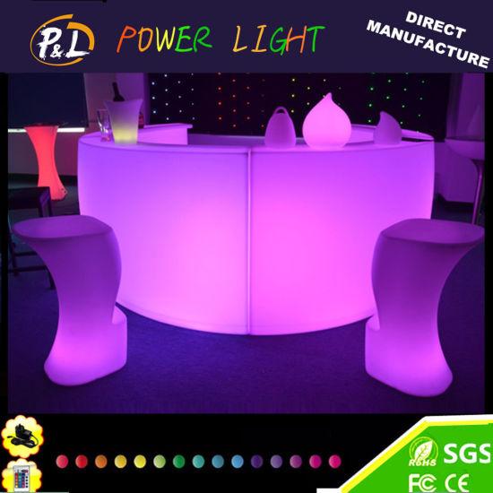 Glowing Party Lounge Furniture LED Illuminated Bar