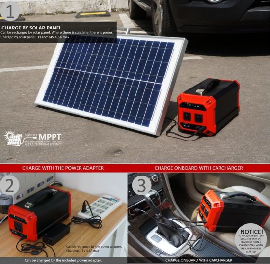 270wh 300W Lithium Battery Portable Solar Power Generator with Ce/RoHS/FCC pictures & photos