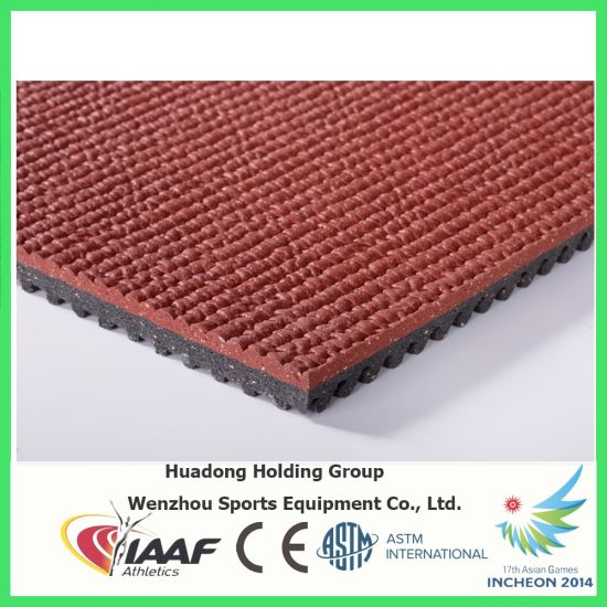 Red Wear Resistant Running Track Rubber Flooring pictures & photos