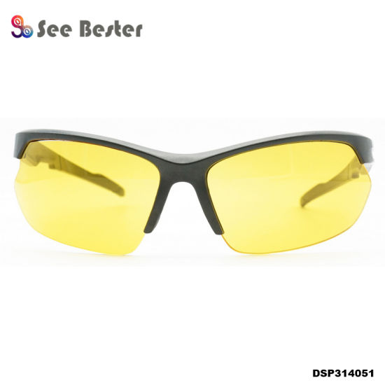 249072287b4 Night Vision Sports Driving Glasses Sunglass HD Vision Wrap Arounds TV
