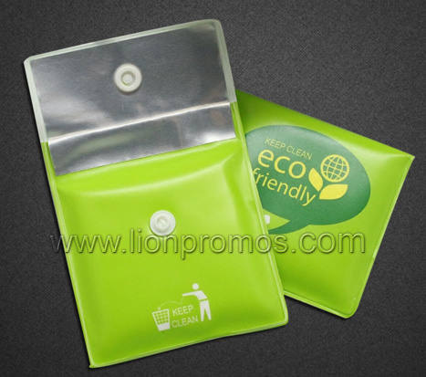Advertising 8.5cm EVA PVC with Alum Foil Button Pocket Ashtray Pouch Cigarette Ash Pocket
