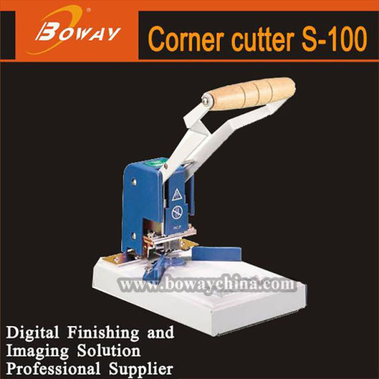 Boway Mini Small Size Office Manual Hand Operation 6 Dies Round Corner Cutter Paper Sheets
