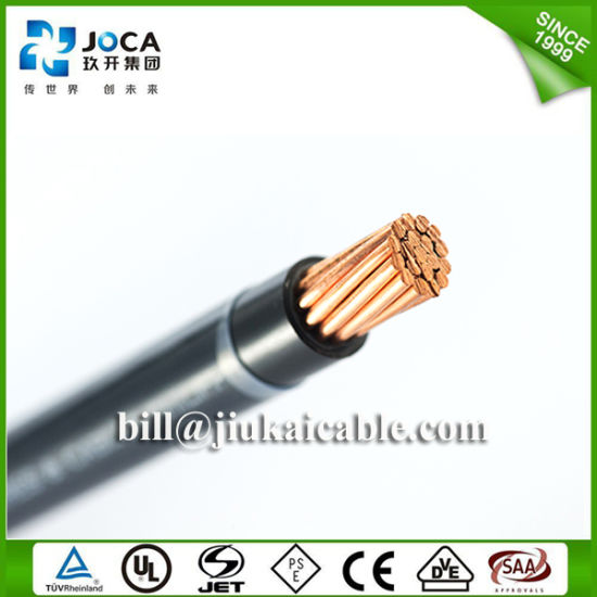 China Black 2 AWG Gauge Thhn Stranded Copper Wire - China Thhn ...