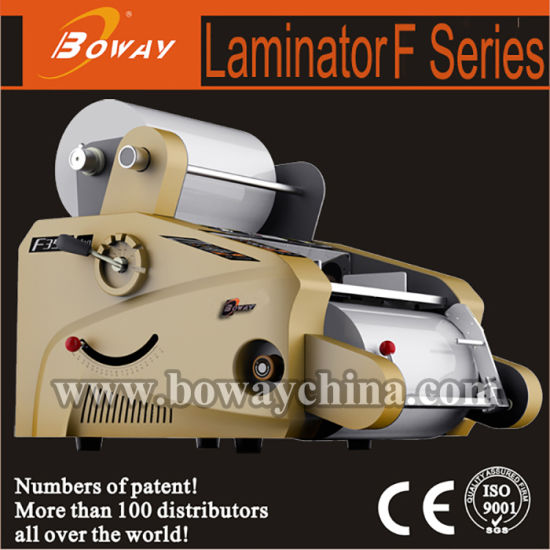 350mm Hot BOPP Coated Roll and Cold Pouch Film Book Cover Paper Laminator F350b pictures & photos