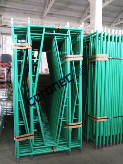 ANSI Building Material Construction High Quality Powder Coated Snap on Mason Frame System Scaffold (CSMFSL) pictures & photos