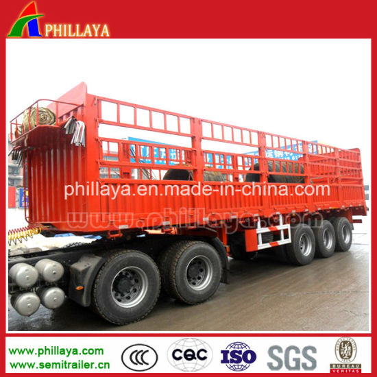 50-60tons Fence Stake Semi Trailers for Livestock Cargo Transport pictures & photos