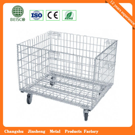 Wholesale Rigid Warehouse Wire Mesh Container