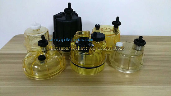 [Hot Item] Fuel Water Separator Filter with Bowl for Caterpillar /Cummins  N14 Gas Engine Parts