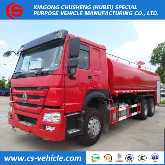 Rhd HOWO 6X4 20 Tons Industrial Fire Fighting Water Sprinkler Trucks 20000L Water Spraying Trucks