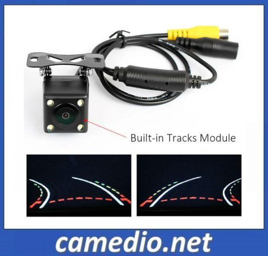 Car Intelligent Dynamic Reversing Trajectory Rearview Backup Camera HD High Resolution