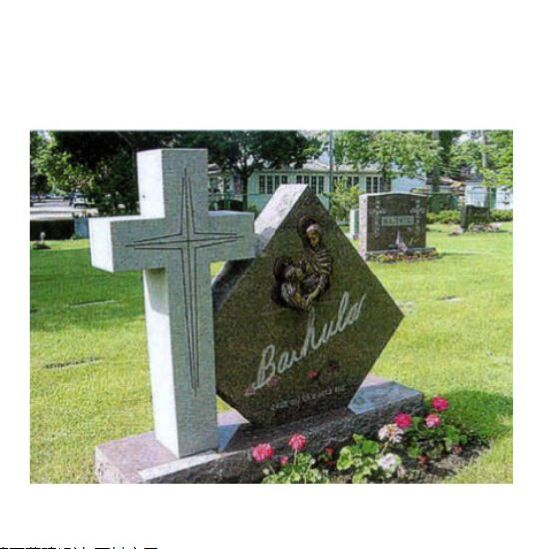Custom Design Popular Granite Tombstone for Poland Style pictures & photos