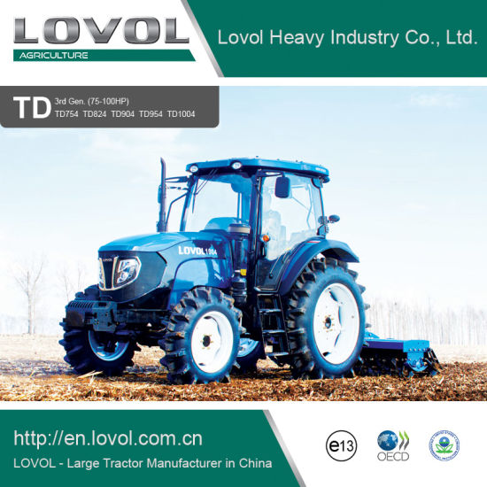 Foton Lovol 75-100HP Diesel Walking Agricultural Farm Tractors pictures & photos