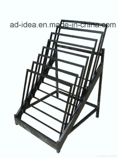 Customized OEM Black Metal Display/ Display for Tile Exhibition/Advertising Equipment