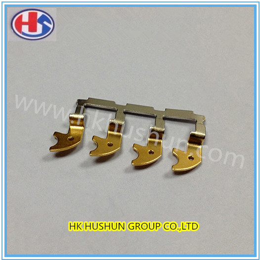 Terminal Medical Clip with Gold Nickel/Stamping Metal Part (HS-DZ-0074)