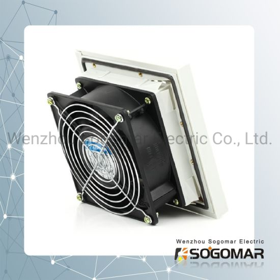 Panel Fan 120X120mm with 9803 Plastic Filter and Metal Guard