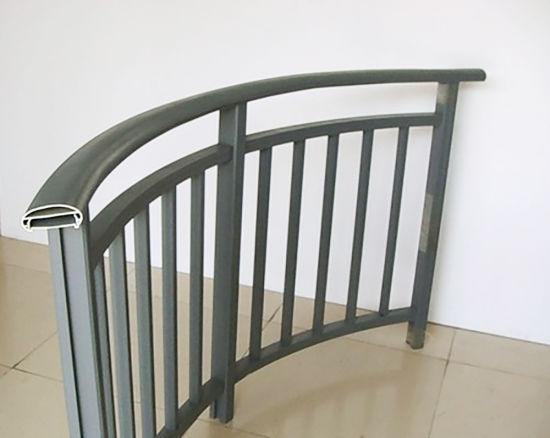 Foshan New Design Balcony Fence Aluminum Stair Railing Galvanized Handrail