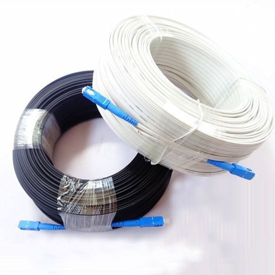 G657A LSZH FTTH Drop Cable 2 Core FTTH Sm Fiber Optic Cable Outdoor Drop Cable Patch Cord pictures & photos