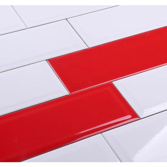 Backsplash Kitchen Wall Red Color