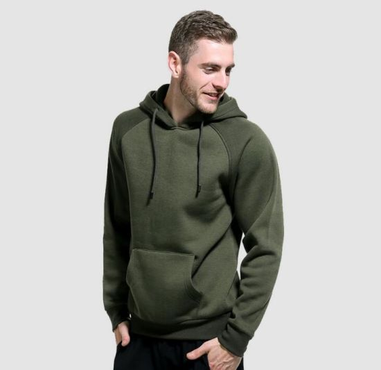High Quality Customized Logo Men Plain Sweatshirt Hoodie pictures & photos