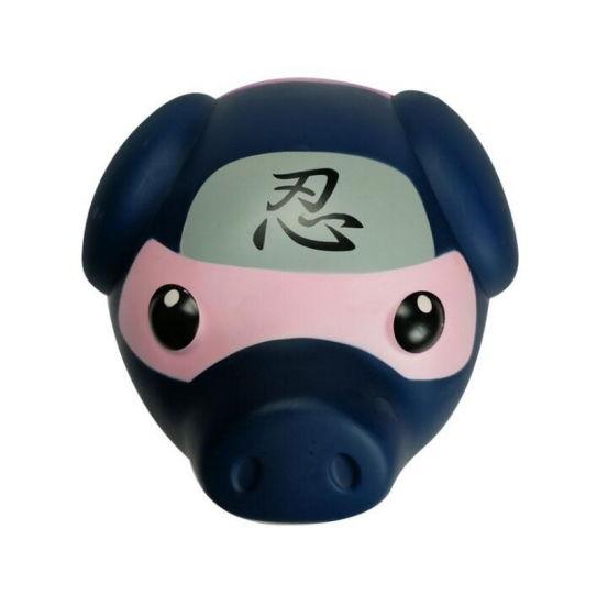 Wholesale Cute Pig Shape PVC Plastic Piggy Money Bank for Kids
