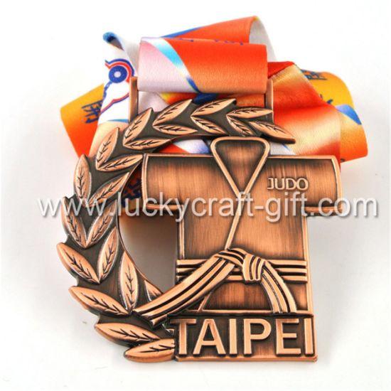 Sports Medal Maker New Design Custom Sports Soft Enamel Metal Award Judo Medal