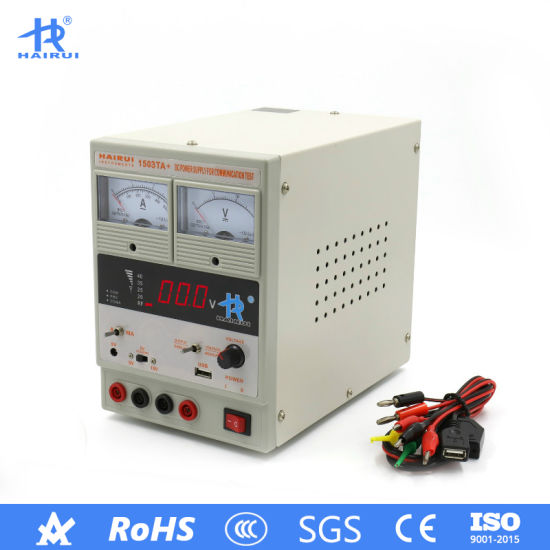 15V 3A/500mA Digital Display USB Regulated DC Power Supply pictures & photos