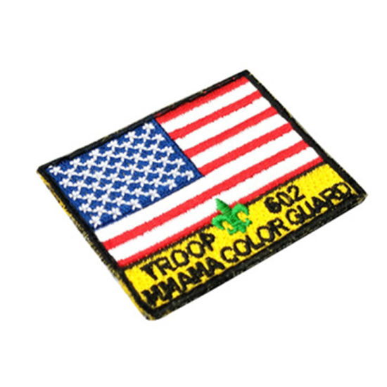 Army Ribbon American Flag Embroidered Applique Sticker