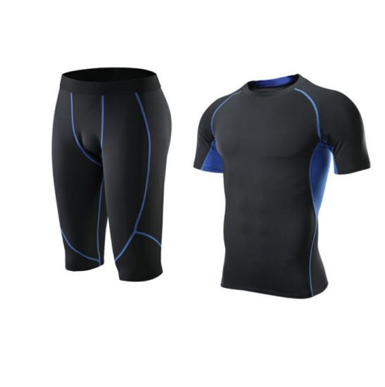 Men Compression Tights Running Fitness Workout Gym Suit