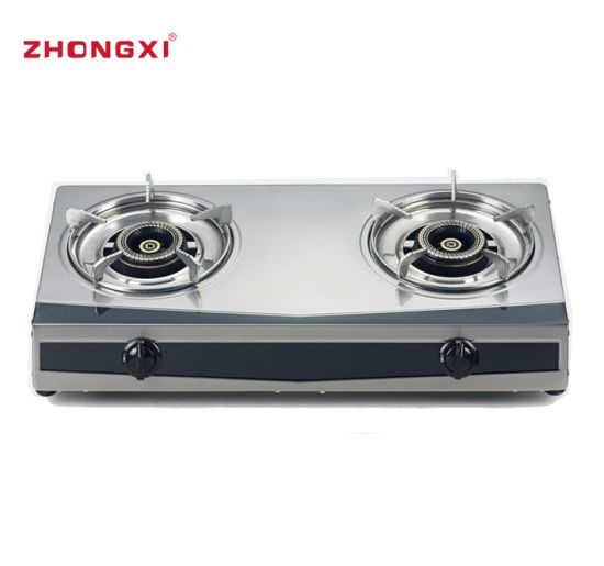 Two Plate Stand Knob Cover Table Top Gas Stove[Jz-RS235]