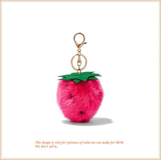 Customized Plushy Strawberry Key Holder Wholesale Gifts