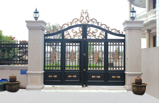 Garden Entrance Aluminum Double Gate Design For Home China