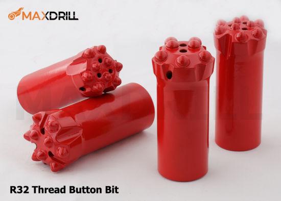 Maxdrill Drifting and Tunneling Drill Bit Wholesale Thread Rock 10 Buttons 64mm Drill Bits R32